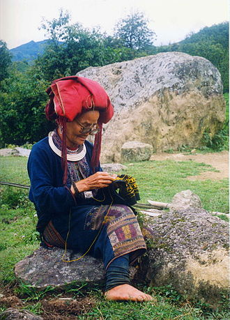 Yao people - A red Yao woman in Vietnam
