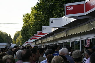 Paseo de Recoletos - Stands in the Feria del Libro (Book fair) in Madrid, in 2006