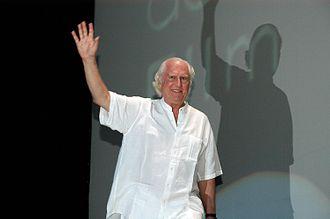 Fernando Solanas - Solanas accepting a Silver Mayahuel award at the Guadalajara Film Festival, 2008.