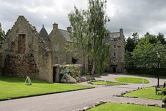 Ferniehirst Castle - Ferniehirst Castle, courtyard
