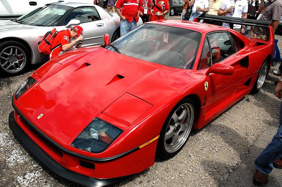 Ferrari F40 in IMS parking lot