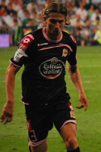 Filipe Luís - Filipe Luís playing for Deportivo against Real Madrid, in 2009