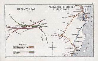 Aberdeen Railway - Image: Finchley Road Arbroath, Kinnaber & Montrose RJD 93
