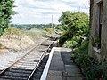 Finghall Lane old railway station, view east to Bedale, Wensleydale Railway, Yorkshire.jpg