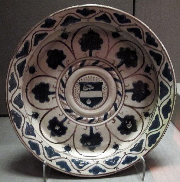 File:Firenze, piatto con alberelli e stemma, 1450 ca..JPG