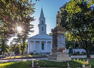 Uxbridge, Massachusetts - Congregational Church and Civil War Memorial