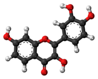 Ball-and-stick model of the fisetin molecule