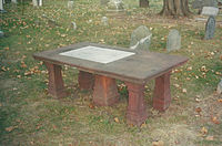 The table tomb of Governor Thomas Fitch Fitch table tomb.jpg