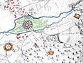 Flechtorf mit Burg Campen 1740 Lagekarte.jpg