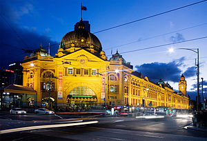 Station building - The station building of Flinders Street Station, Melbourne, Australia.