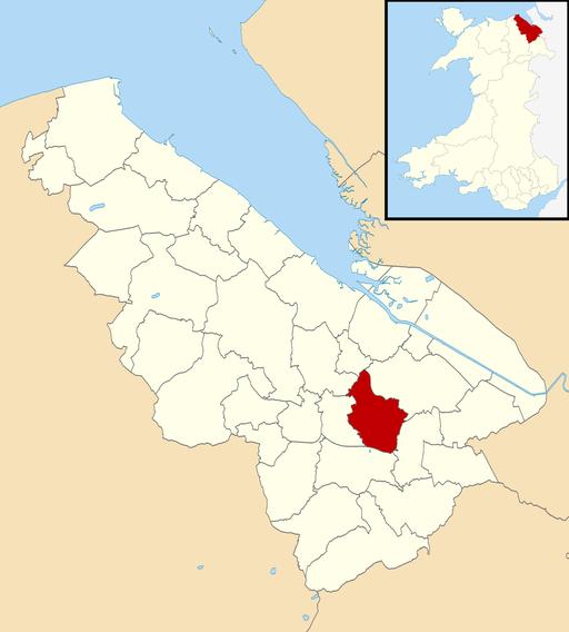 Flintshire UK community map (Buckley)