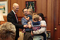 Florida Governor Rick Scott welcomes the 2016 Down Syndrome Awareness Week with fist-bumps for Kennedi Beahn and Xavier Robinson 05.jpg