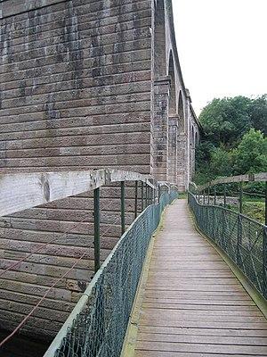 The Kelso and Jedburgh railway branch lines - Footbridge below Roxburgh Viaduct