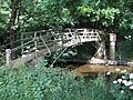 Footbridge over River Teign leading to Preston - geograph.org.uk - 1371734.jpg