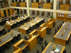 Law library - Leo T. Kissam Memorial Library, the law library of the Fordham University School of Law, also a federal depository library
