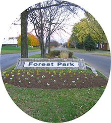 Forest Park East community entrance features, Columbus, OH