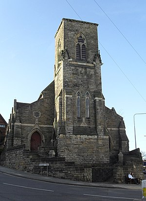 St Leonards-on-Sea Congregational Church - The church faces the junction of two roads and is a local landmark.