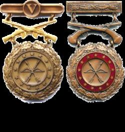 former us army team badge bronze pistol coastal artillerypng