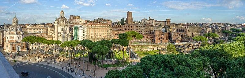 File:Foro Traiano dal Vittoriano Roma.jpg