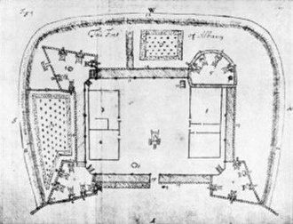 Fort Frederick (Albany) - Fort Frederick in 1695
