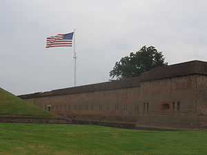 Outer wall of the fort.