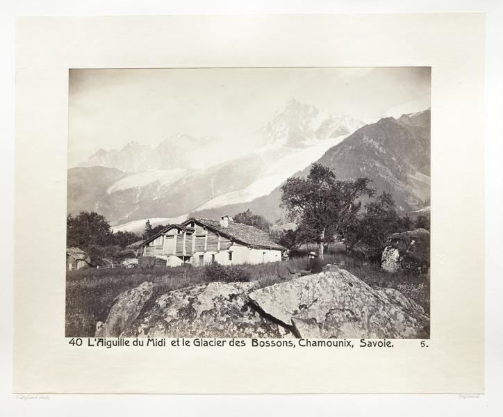 Fotografi av Berget Aiguille du Midi och Bossons-glaciären - Hallwylska museet - 103138