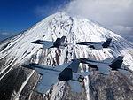 Four F-A-18E Super Hornets flying near Mt. Fuji (150325-N-ZZ999-001).jpg