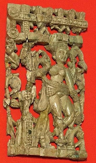 Begram ivories - Fragment of a frieze
