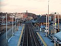 Framingham station looking east from bridge, January 2015.JPG