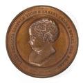 Framsida av bronsmedalj med prins Louis Philippe, 1833 - Skoklosters slott - 99231.tif
