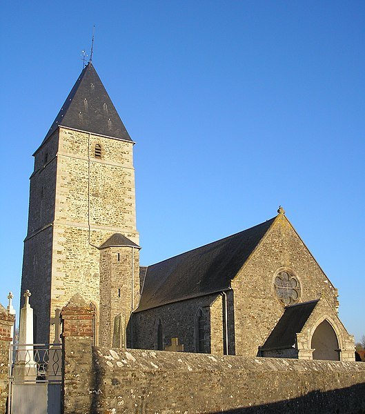 Courcy (Manche, Normandie, France). L'église Saint-Lô.