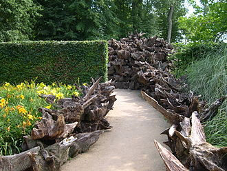 Stumpery - Part of the stumpery at the Château de Chaumont, central France