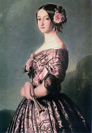 Princess Francisca of Brazil - Francisca of Brazil, Princess of Joinville, 1850s. Painting by Franz Xaver Winterhalter