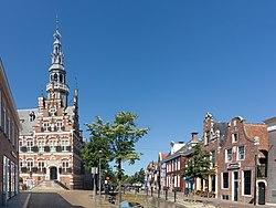 Franeker, het stadhuis RM15724 en het Planetarium RM15668 foto4 2017-06-18 11.19.jpg