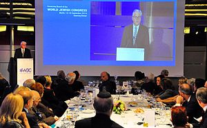 Frank-Walter Steinmeier - Germany's Foreign Minister Frank-Walter Steinmeier addressing a dinner of the World Jewish Congress in Berlin, 14 September 2014