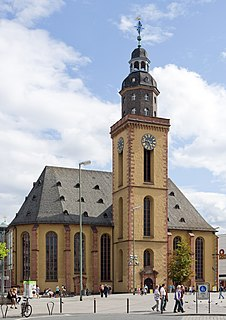 St. Catherines Church, Frankfurt Church in Frankfurt am Main, Germany