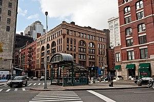 Franklin Street (IRT Broadway–Seventh Avenue Line) - Uptown station entrance kiosk