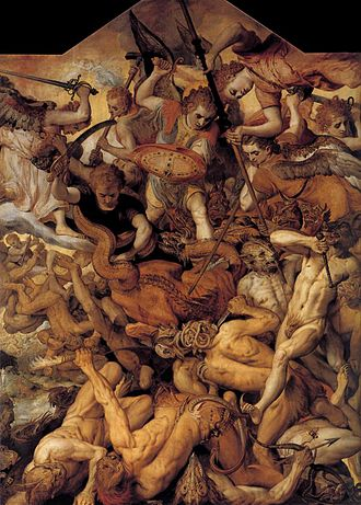 Dæmonomania - Image: Frans Floris The Fall of the Rebellious Angels WGA7947