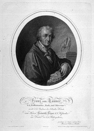 Franz Anton von Zauner - Franz von Zauner; after a painting by Bernhard von Schroetter (1772-1842)