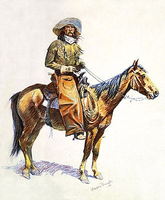 Frederic Remington - Arizona cow-boy (1901 lithograph)