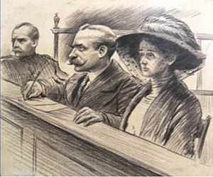 Frederick Seddon - Seddon and his wife in the dock at the Old Bailey