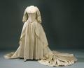Fredrika Dorotea Vilhelminas brudklänning, 1797-10-31 - Livrustkammaren - 82144.tif