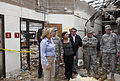 From left foreground, Oklahoma Gov. Mary Fallin leads U.S. Army Gen. Frank J. Grass, the chief of the National Guard Bureau, on a tour through the Plaza Towers Elementary School in Moore, Okla., May 28, 2013 130528-Z-VF620-4641.jpg