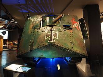 """Mephisto (tank) - The front of """"Mephisto"""""""