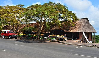 St Lucia, KwaZulu-Natal - Image: Fruit Market, St Lucia 01