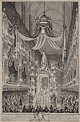 Funeral Service of Marie Thérèse Raphaëlle at the Paris Notre Dame, November 1746.jpg