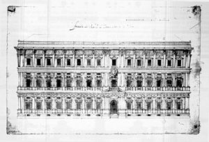 Galeazzo Alessi - Alessi's original project for the façade of Palazzo Marino, Milan, altered in the execution