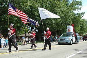 Order of Alhambra - Members of Galicia Caravan 77 taking part in the 2013 St. Clair Shores, Michigan Memorial Day Parade.