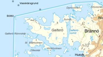 brännö karta Galterö – Wikipedia brännö karta
