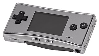 Game Boy Micro Handheld game console developed by Nintendo